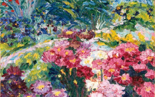 Emil Nolde, Kunstwerk mit bunten Blumen