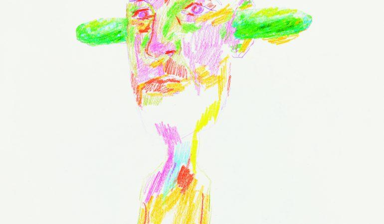 Erwin Wurm Gurke, 2017 Buntstift, Graphitstift, Papier © Studio Erwin Wurm