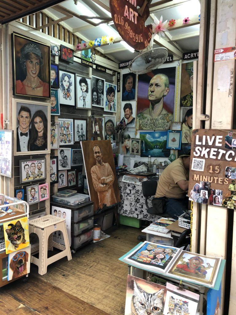 Porträtmalerei, Kuala Lumpur