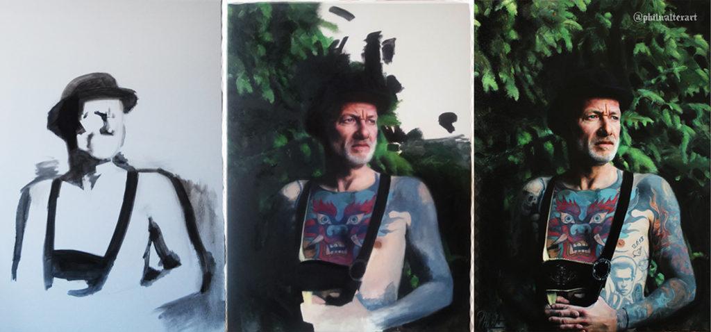 "Phil Walter - Gemälde ""Passenger"""