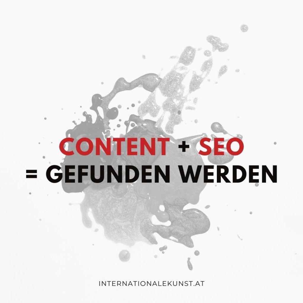 Content und SEO - Internationale Kunst