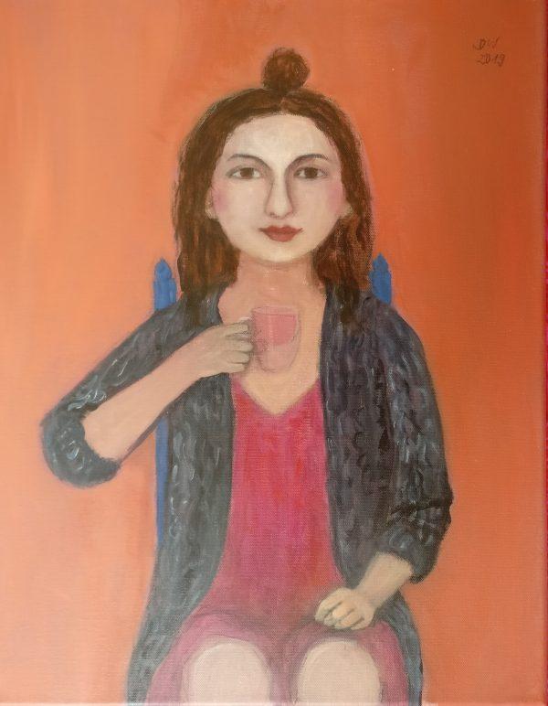 """Dorothea Winter - """"Die Teetrinkerin"""""""
